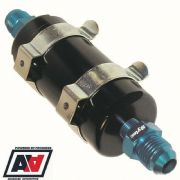 Sytec Motorsport In-Line Fuel Filter -6 AN6 Carb Or Fuel Injection 30 Micron